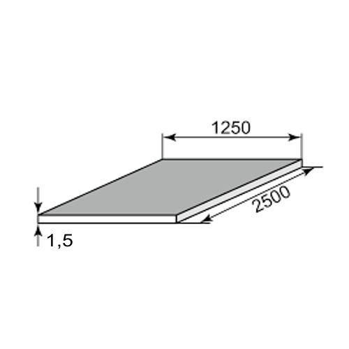 Лист стальной х/к 1.5x1250x2500 фото