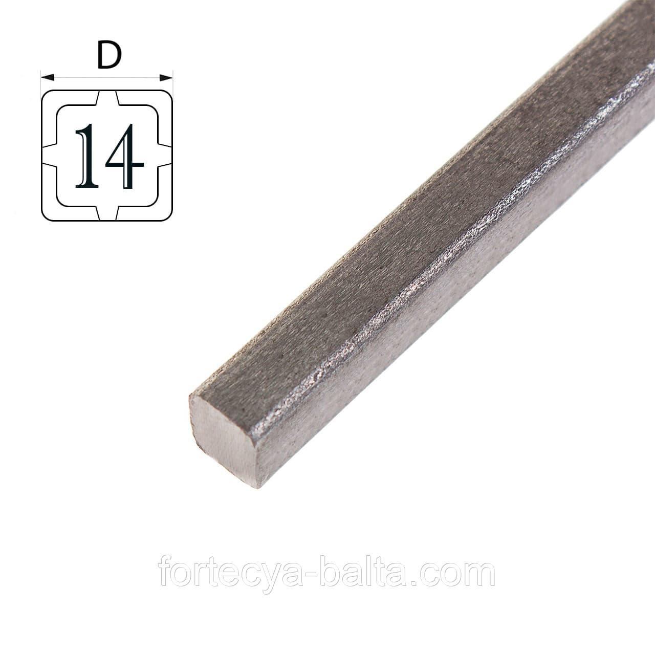 Квадрат металлический 14мм фото